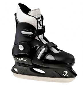 SFR Hardboot Adjustable Ice Skates - Black